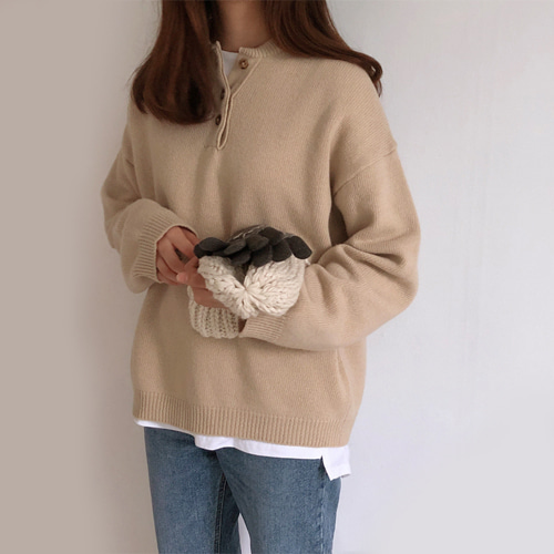 anderson knit (베이지/브라운)