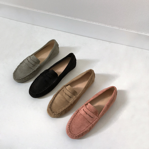 cancho suede loafer (핑크/베이지/민트/블랙)