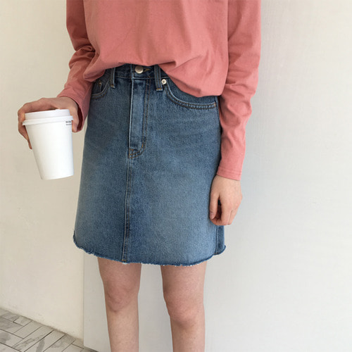 scone denim skirt