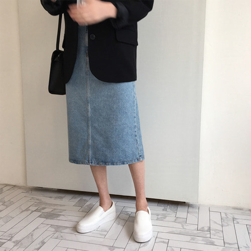seed denim skirt (진청/연청)