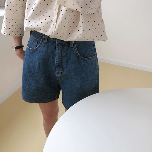 lifting shorts denim (진청/흑청)